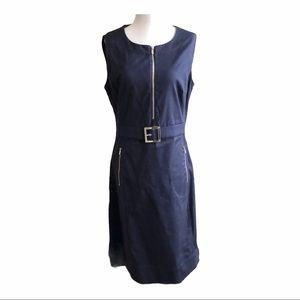 TORY BURCH Sleeveless Navy Sheath Dress